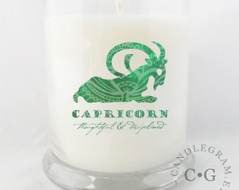 Soy Jar Candle by CandleGram 10oz...Zodiac, Astrological Sign, Capricorn