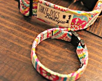 """Dog Collar with optional bff bracelet """"The Roxy"""" FREE SHIPPING  Please leave wrist measurement**"""