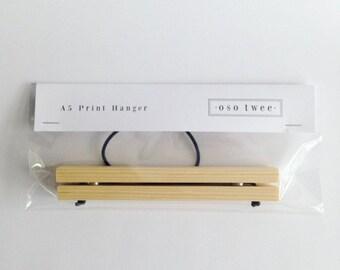 Handmade A5 wooden print hanger