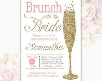 Items similar to bridal shower brunch invitation shower for Champagne brunch bridal shower
