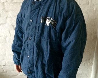 Vintage Starter New York Yankees Jacket / Coat Blue Large