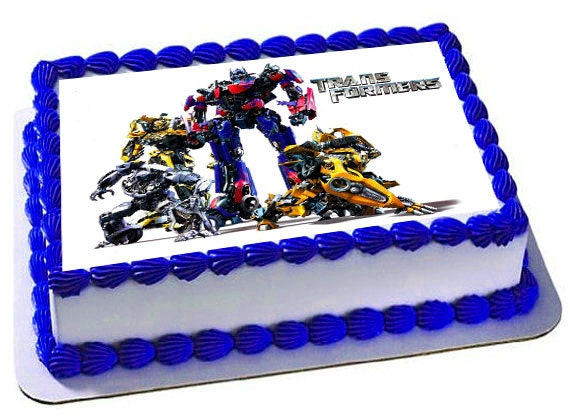 Edible Cake Decorations Transformers : Transformers Cake Topper Transformers Birthday Party