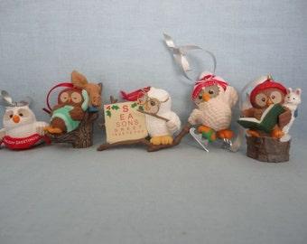 1990's Owl Ornaments