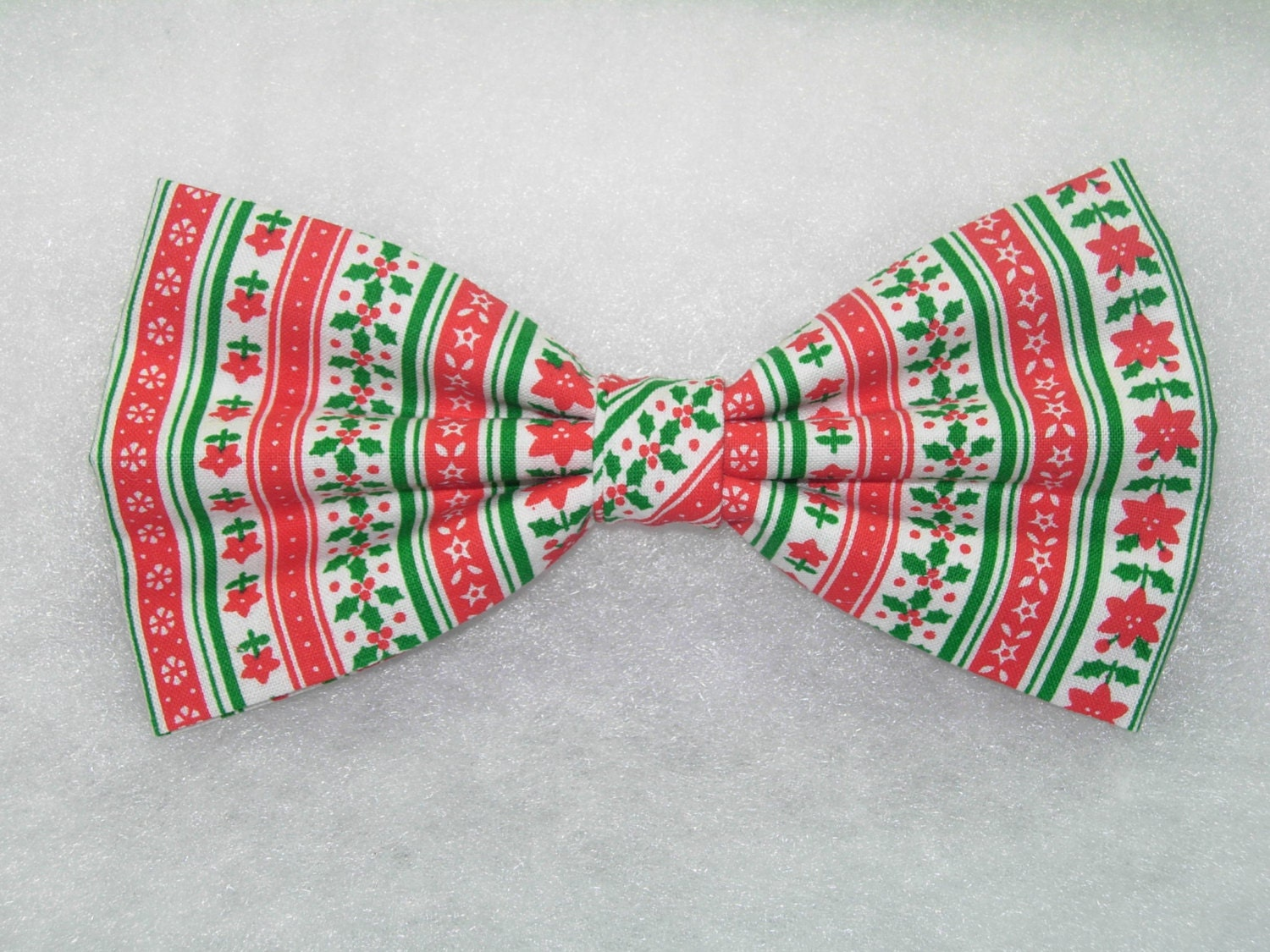 Christmas Stripe Pre-tied Bow Tie Christmas Trees