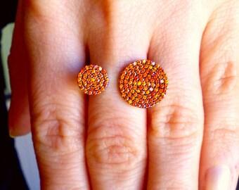 Citrine Ring-Citrine Gold Ring-Hand Made Citrine Ring