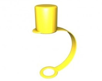 Yellow Straw Cap - set of 20