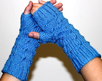 Fingerless Gloves/Wristwarmers - Cable Twist - Lots of Colors Available!