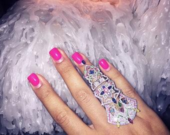 Full Finger Ring Sterling Silver-925