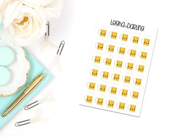 Kawaii Beer Mug Planner Stickers