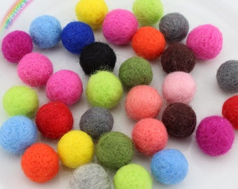 15pcs Handmade Felt Wool Balls 25mm Pompom Balls Felted Beads Party Garlands DIY Craft Supplies