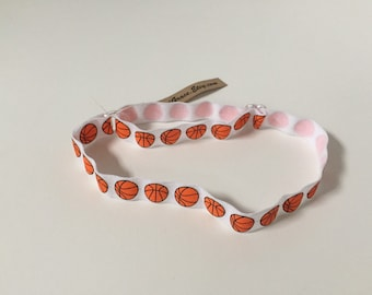 Basketball Headband - Adjustable Elastic Headbands - Fit Baby to Adult, Fold Over Elastic, FOE, Sport, Ouchless, No Slip
