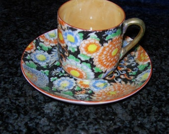 Vintage 1950's Floral Tea Cup and Saucer Vintage Tea Cup and Saucer