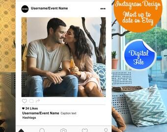 Instagram Frame, Insrtagram Photobooth, Instagram Cut Out, Instagram Photo Booth Prop, Digital Download, Wedding Props,  Photobooth Props