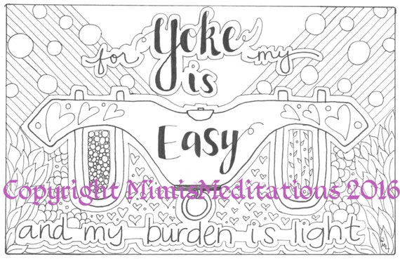 Coloring Page For My Yoke Is Easy