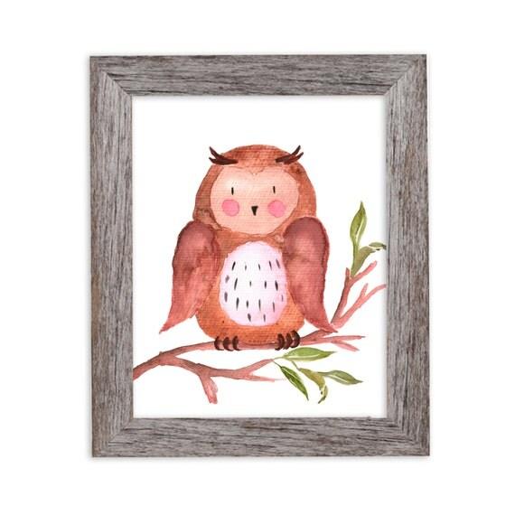Animal Art, Nursery Wall Art, Kids Wall Art, Woodland Nursery Art, Woodland Wall Art, Woodland Animals Nursery,  Owl Art, Bear, Deer, Rabbit