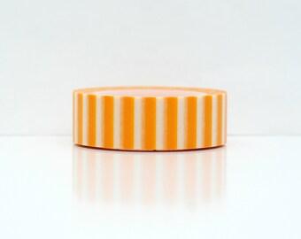 orange stripe washi tape- orange paper tape- scrapbooking- craft supplies- planner stickers- packaging-decorative tape-patterns-album decor