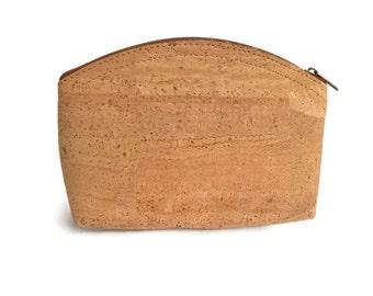 Cork purse, cork bag, cork cosmetic bag, cork toiletry purse, small bag, vegan bag, vegan purse, vegan cosmetic purse, eco friendly purse