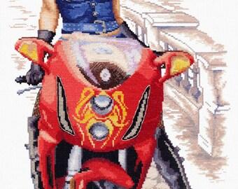 Cross Stitch Kit Biker