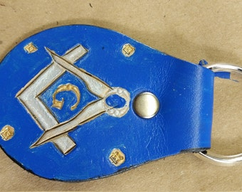 Masonic Key fob, Square and Compasses are Silver, G and small Square and Compasses Gold,(0010)