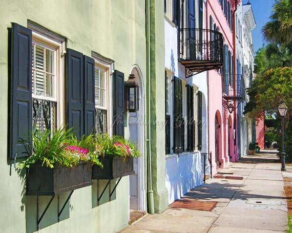 East Bay Street Rainbow Row Charleston Photo Art Historic