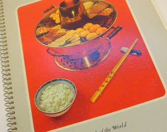 Vintage Time Life 1960s Foods of the World Recipes Chinese Cooking Paperback Spiral Book