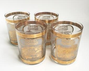 Vintage Royal Gorge Colorado Aerial Tramway Gold Glasses