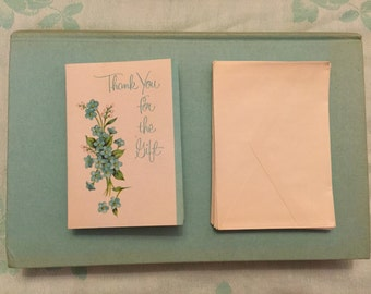 "Vintage (1950s) ""Thank You"" Cards--- Pack of 12 Cards & Envelopes"