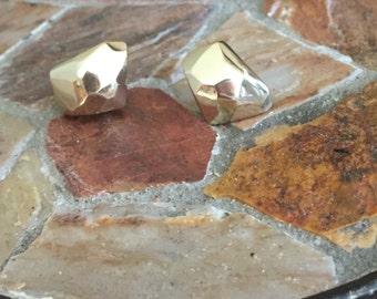 Gold Vermeil Facet earrings
