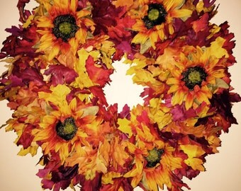 Fall Wreath Yellow/Orange