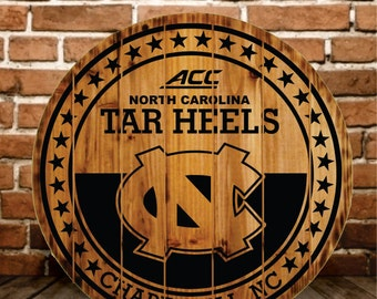 North Carolina Tar Heels Rustic Sign - Buy One - Get One FREE (Final Day Today)