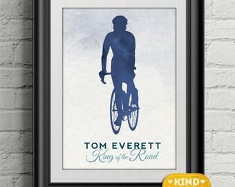 King of the Road... personalised Bike Print