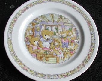 "Collectable Royal Worcester ""Wooster Bear"" Child Plate 1993"