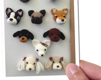 Fridge Magnet - Crochet Magnet - Animal Magnet - Unique Magnets- Dog Magnets