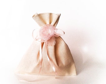 Set of 20, wedding, muslin wedding favor bags, gift bags for goodies,burlap thank you bag, muslin favor bags