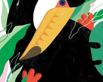 Tropical Toucan A3 Giclee print