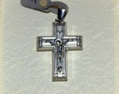 14K White Gold Cross, 14K Orthodox Cross, 3.1gr weight, MADE in Greece, Free Shipping