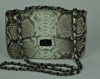 Genuine Exotic Python Flap Bag Look-A-Like