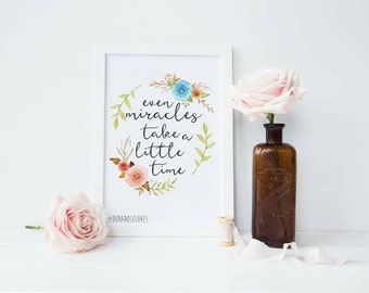Even Miracles take a little time Print - Fairy Godmother Print