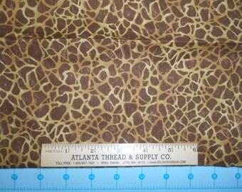 Giraffe Print Cotton Fabric Fat Quarter 18 X 22