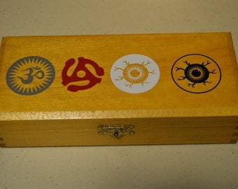 Om, Eyeball and 45 Adapter vinyl decals -  stickers