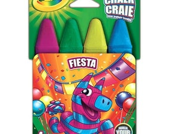 Crayola Chalk FIESTA  1 Pkg of 4 Chalks