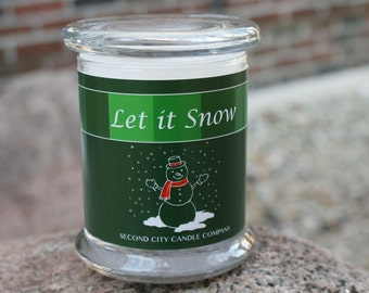 Let it Snow Scented Soy Wax Candle