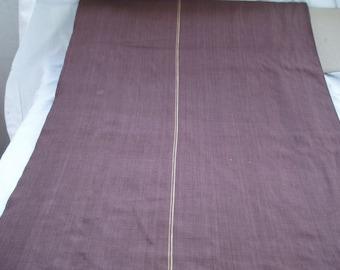 Beautiful linen hazelnut Brown with 2 strips