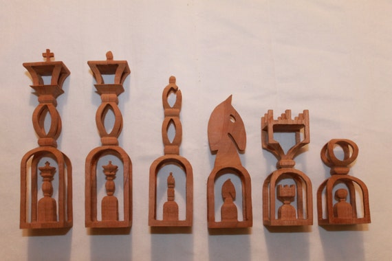 Scroll Saw Pattern Advanced Chess Set From
