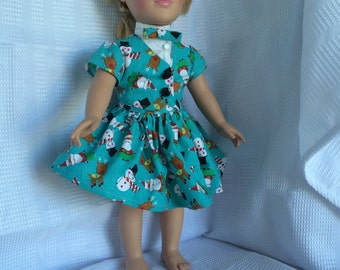 Holiday dress for 18 inch doll