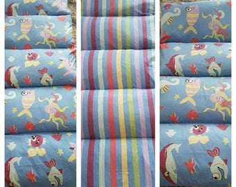 Under the Sea Pillow Bed Cover- Double sided.