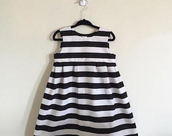 Black & White Stripe Tank Dress