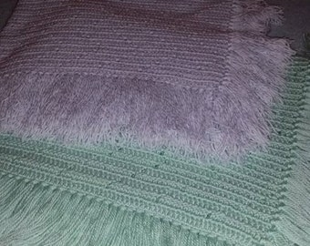 Ziz Zag Filet Baby Afghan