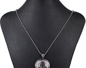 Pendant CHUNK silver and rhinestone