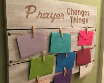 Wooden Prayer Board- Prayer Changes Things